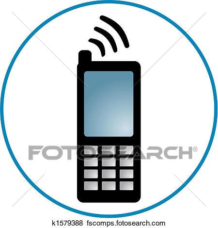 450x470 Clip Art Of Cellphone Clipart K1579388