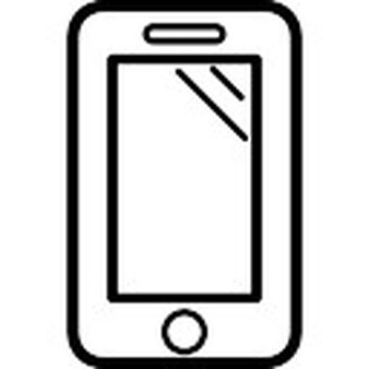 338x338 Phone Clipart Outline