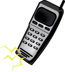 272x300 Cell Phone Clipart Image