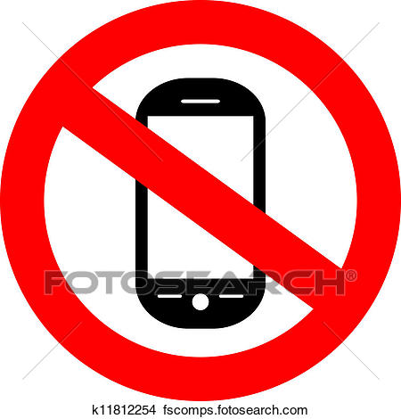 450x470 Clipart Of No Cellphone Sign K11812254