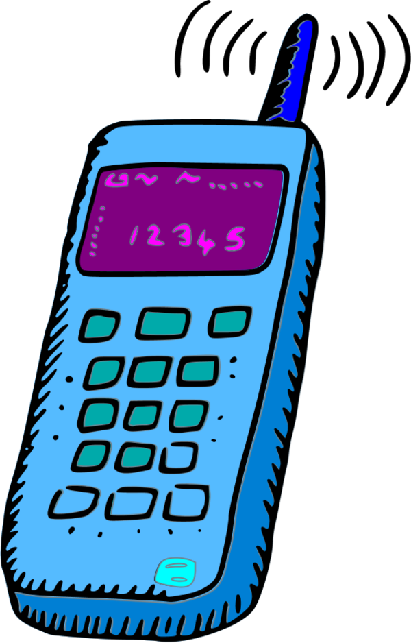 600x938 Colouful Clipart Cell Phone