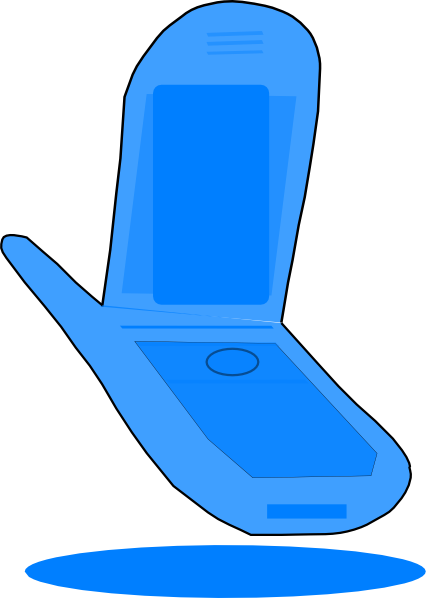426x598 Blue Cell Phone Clip Art