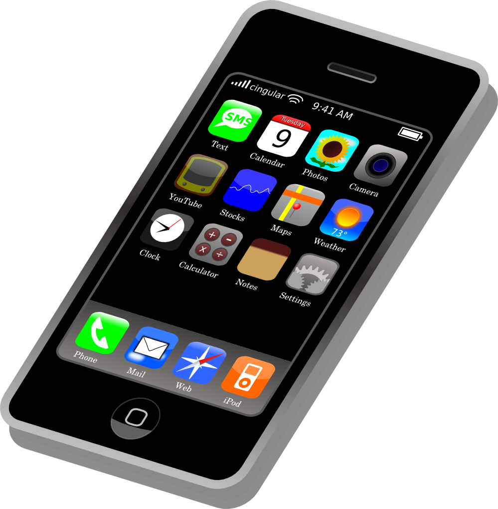 999x1020 Cell Phone Clipart Free