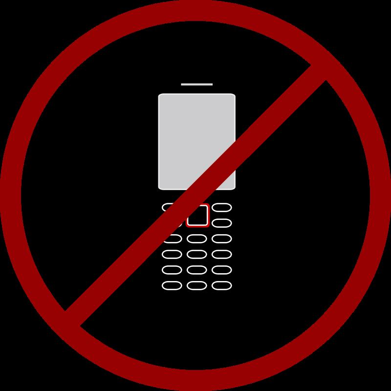 800x800 No Cell Phone Clipart Clipart Panda
