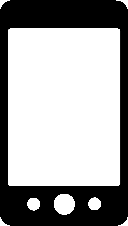 3201x5639 Phone Clipart Illustration