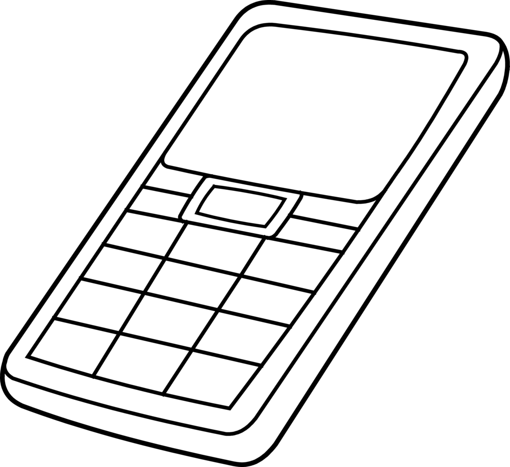 1000x917 Cell Phone Coloring Pages Many Interesting Cliparts