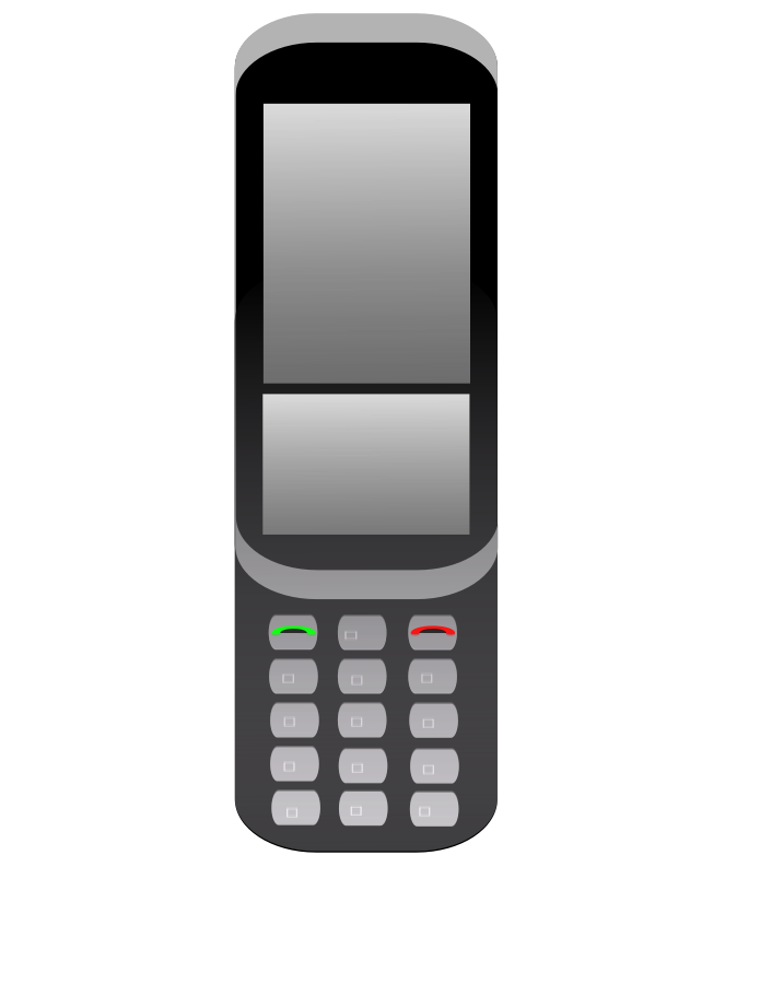 695x900 Cell Phone Vector Clipart