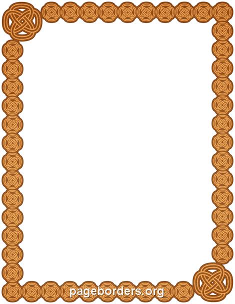 470x608 Celtic Border Clip Art, Page Border, And Vector Graphics