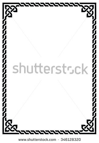 324x470 Celtic Border Clipart