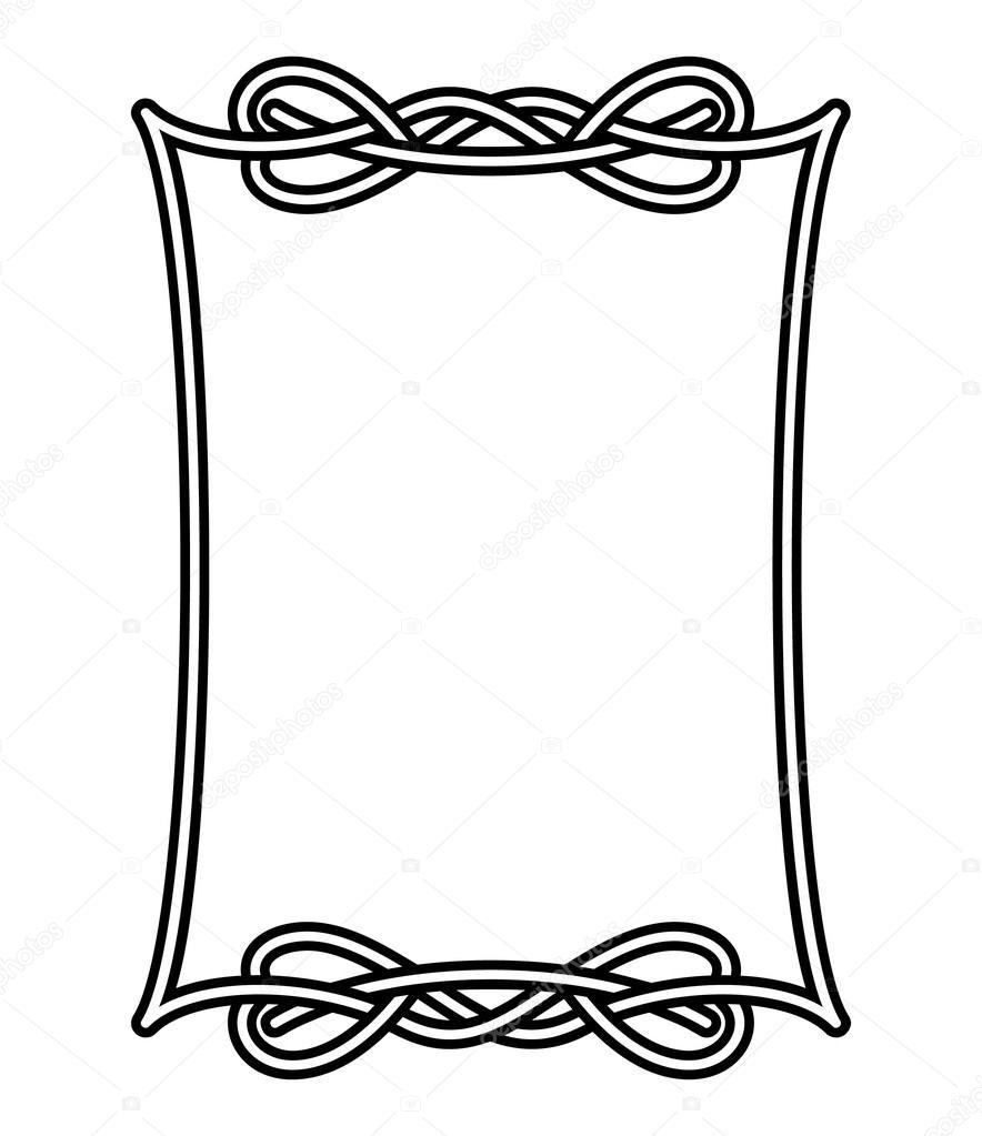 884x1023 Celtic Frame Stock Vector Nata Art