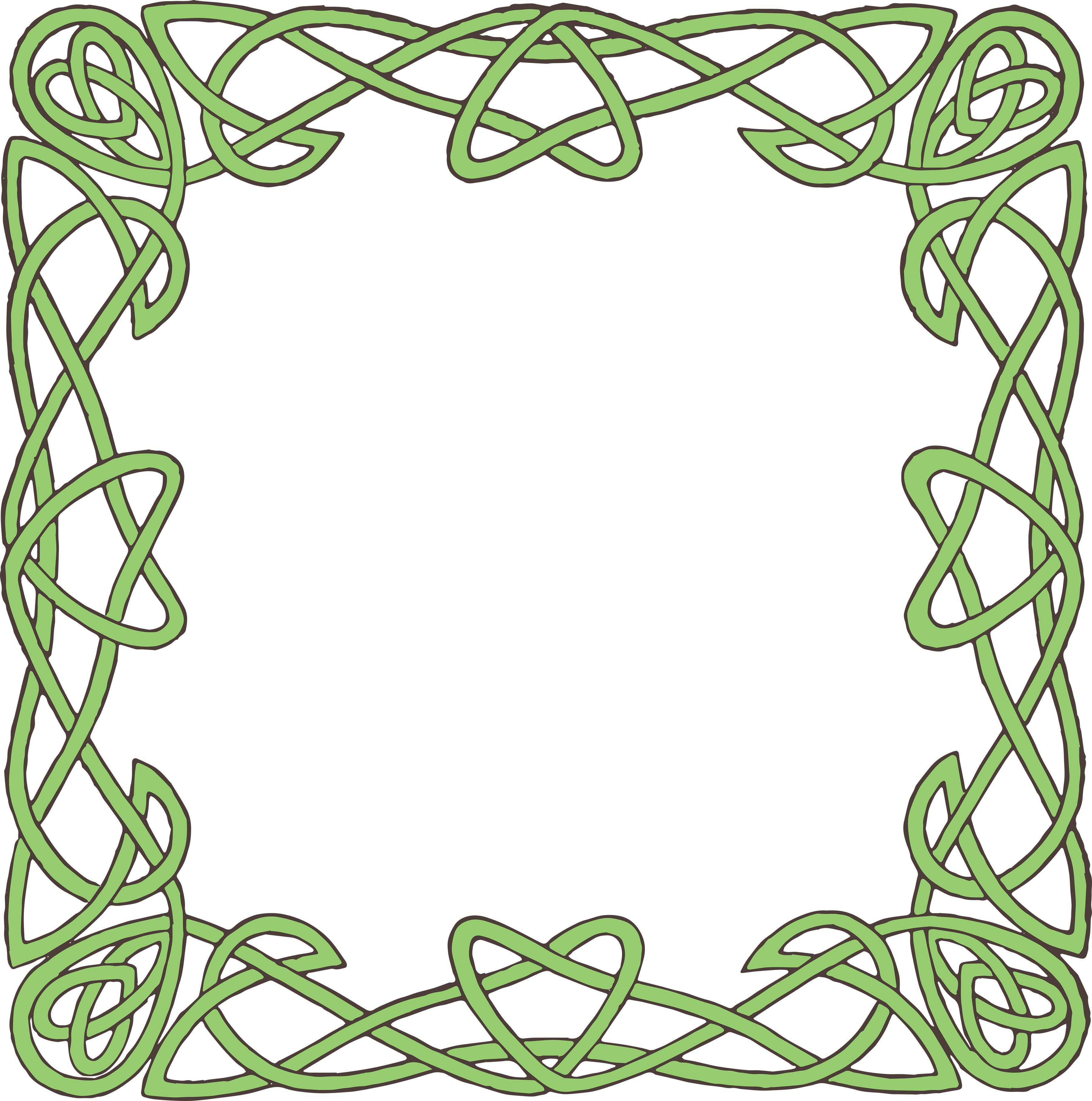 3600x3630 Celtic Green Border Clipart Printables Free
