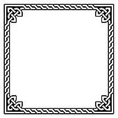 170x170 Clipart Of Celtic Decorative Knot Frame K12829005
