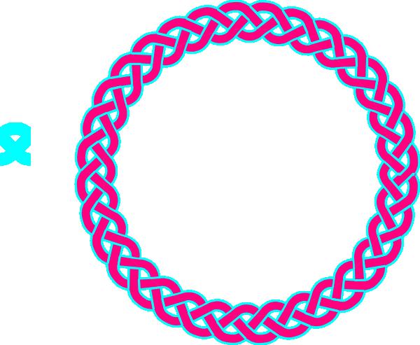600x493 Pink Amp Blue Celtic Knot Clip Art