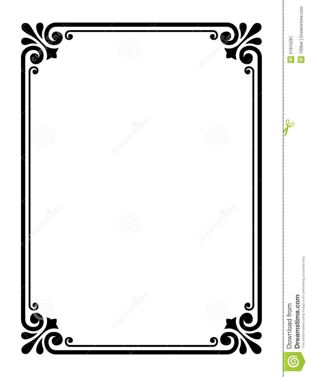 1065x1300 Simple Frame Clipart