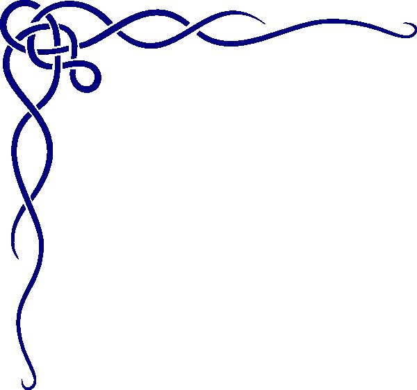 600x562 Blue Celtic Border Clip Art