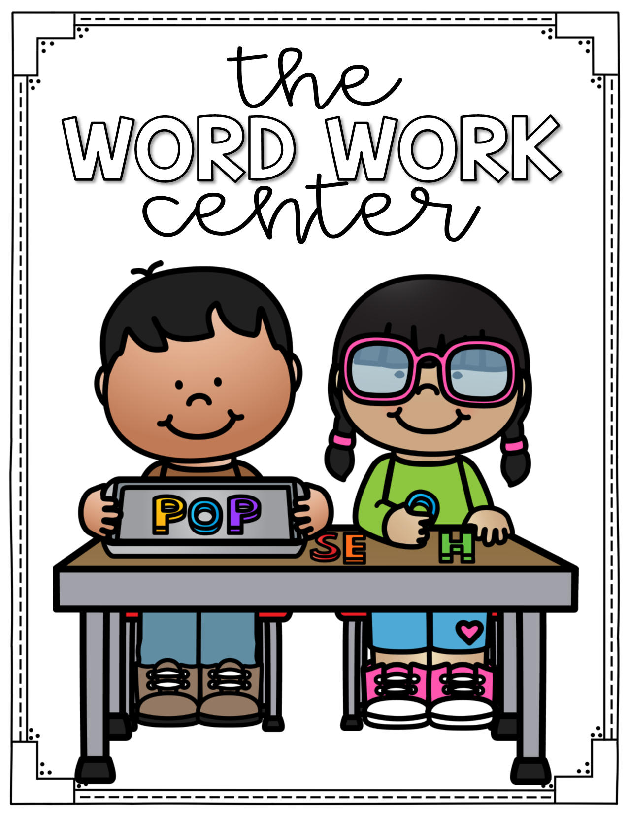 1277x1653 Word Work Center Labels For Centers Two Free Posters In