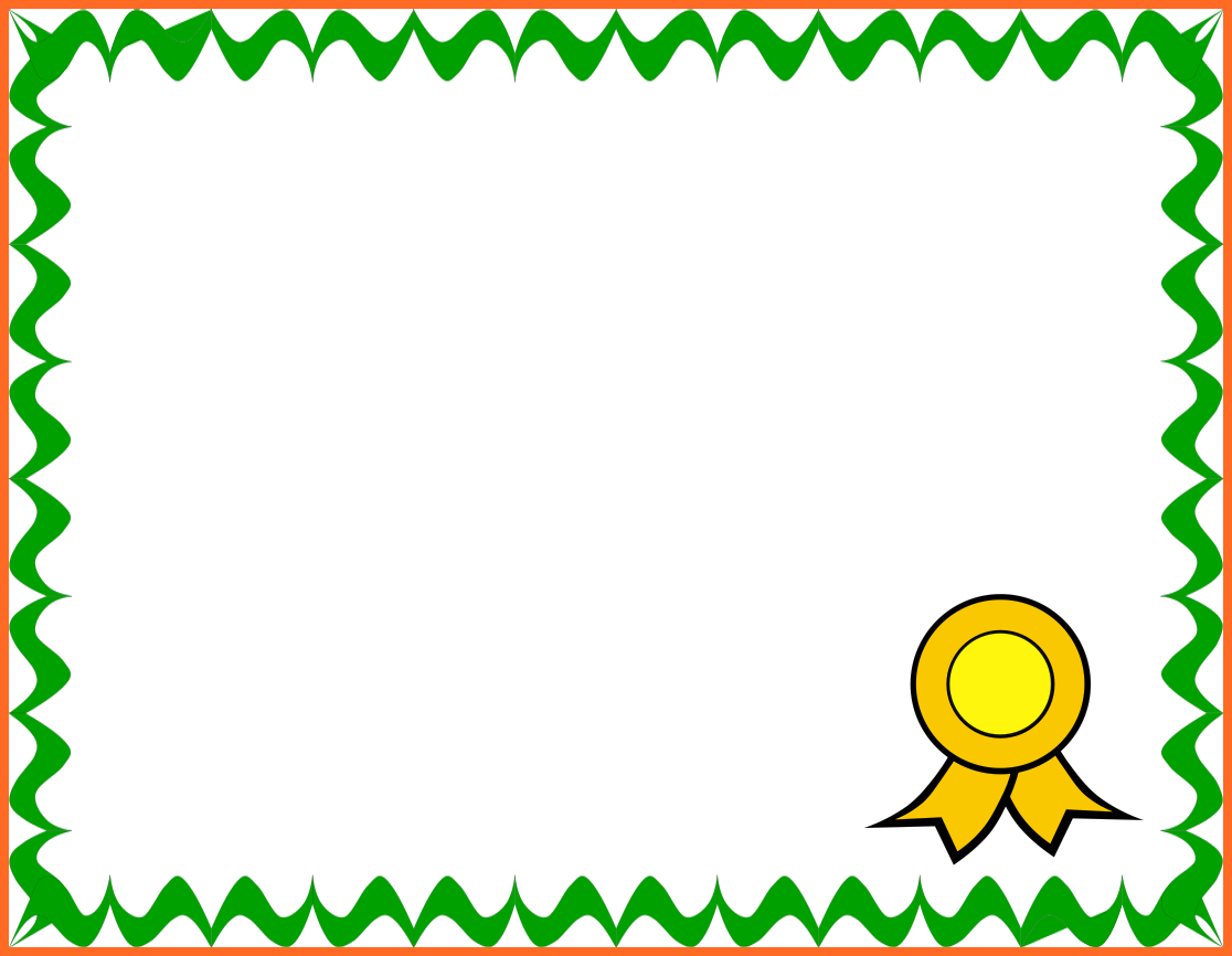 blank certificate borders
