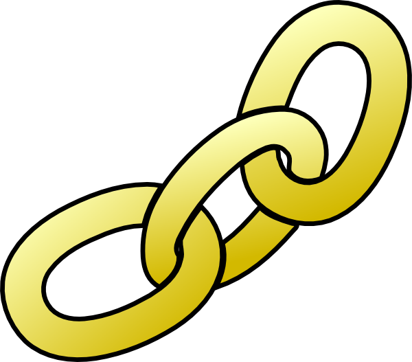 600x527 Gold Chain Clip Art