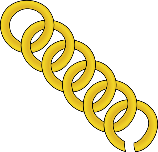600x576 Gold Chain Of Round Links Clip Art
