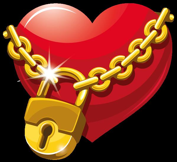 600x547 Locked Heart Png Clipart Clip Art