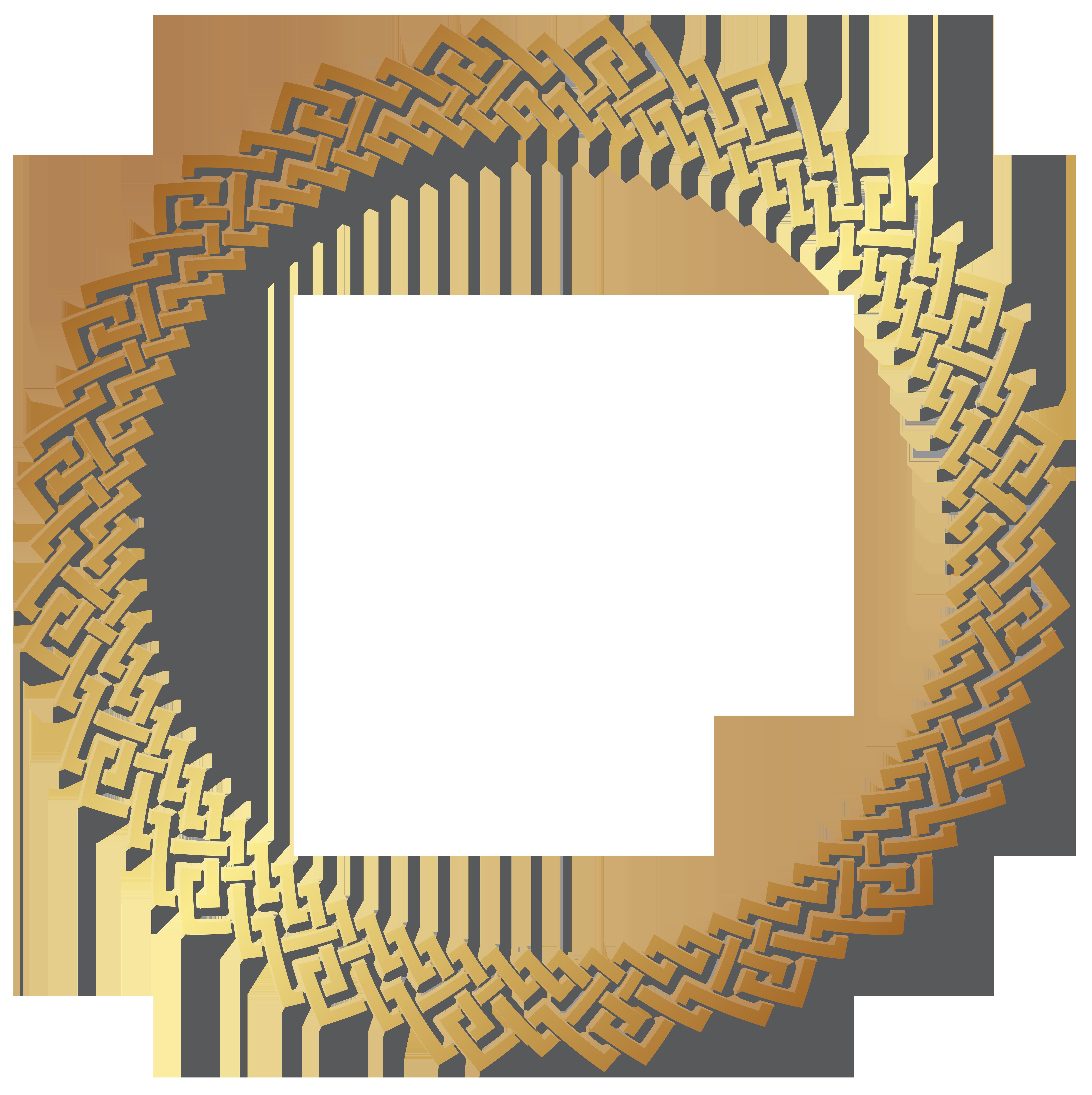 7979x8000 Round Golden Border Frame Transparent Png Clip Artu200b Gallery