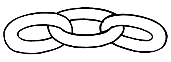 600x220 Chain Link Outline Clip Art