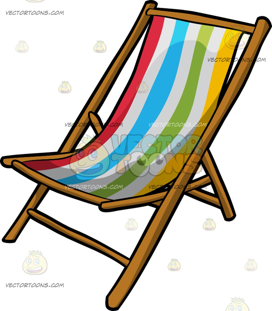 897x1024 A Beach Chair Cartoon Clipart