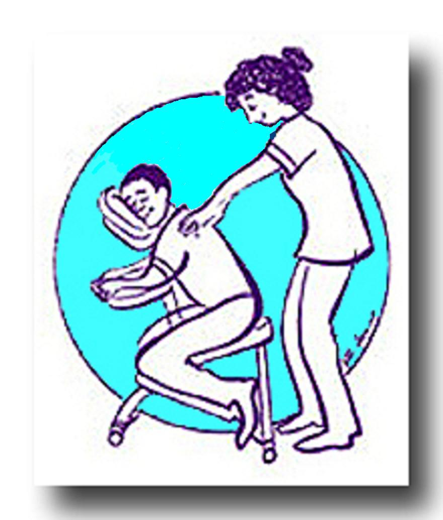 880x1032 Chair Massage Clipart