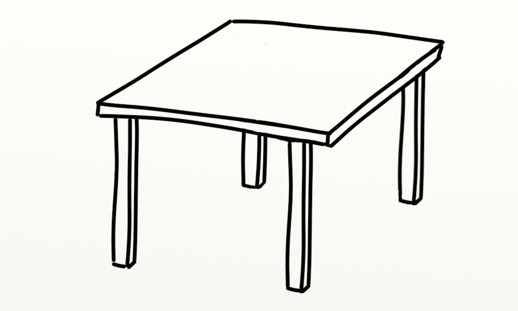 1680x1010 Desk Clipart Black And White