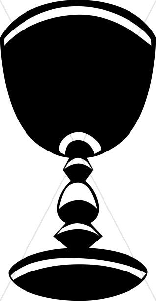 318x612 Black And White Striped Chalice Communion Clipart