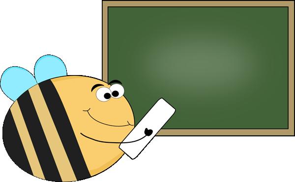 600x371 Bee Chalkboard Clip Art