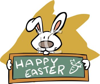 350x295 Royalty Free Clip Art Image White Rabbit Holding A Chalkboard