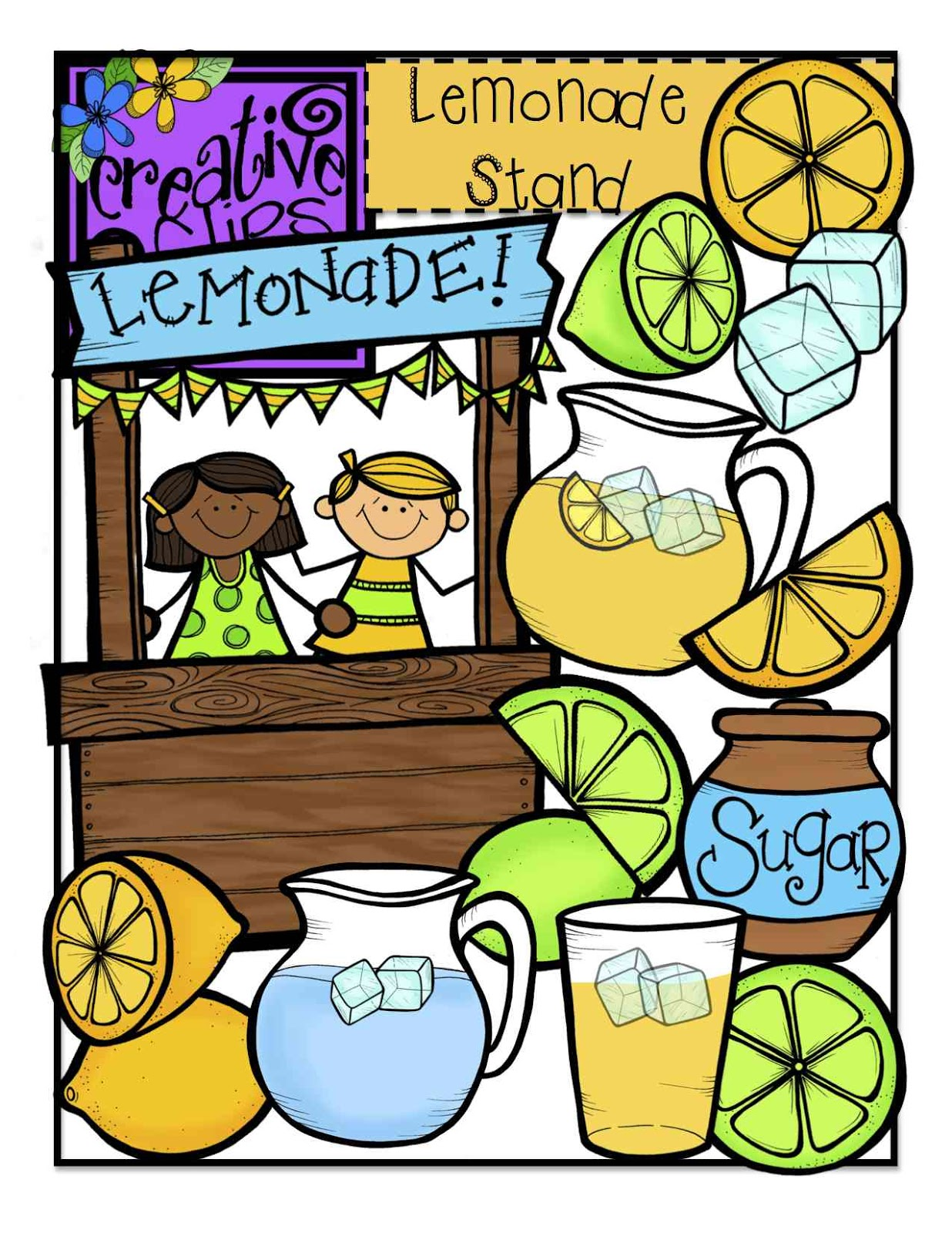 1236x1600 The Creative Chalkboard Free Lemonade Stand Clipart!!!!