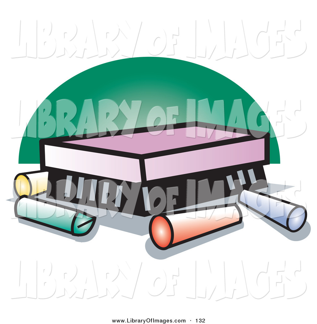 1024x1044 Clip Art Of Colorful Sticks Of Chalk By An Eraser On A Chalkboard