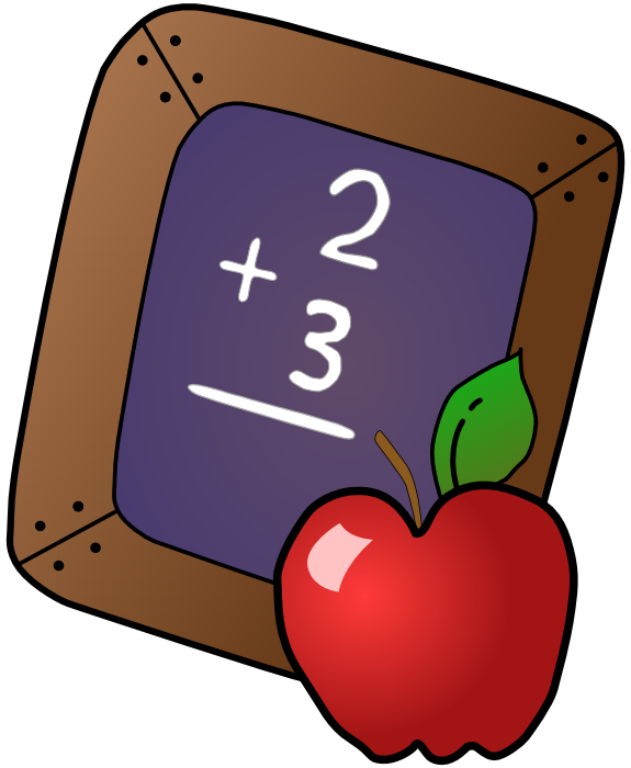 575x700 Apple Clipart Chalkboard