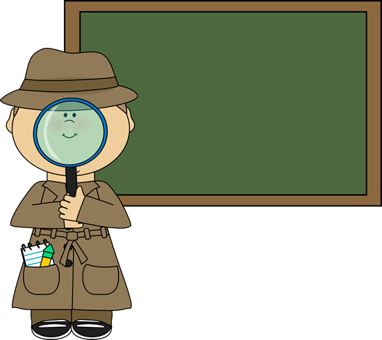550x490 Boy Detective And Chalkboard Clip Art