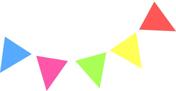 600x313 Rustic Clipart Pennant Banner