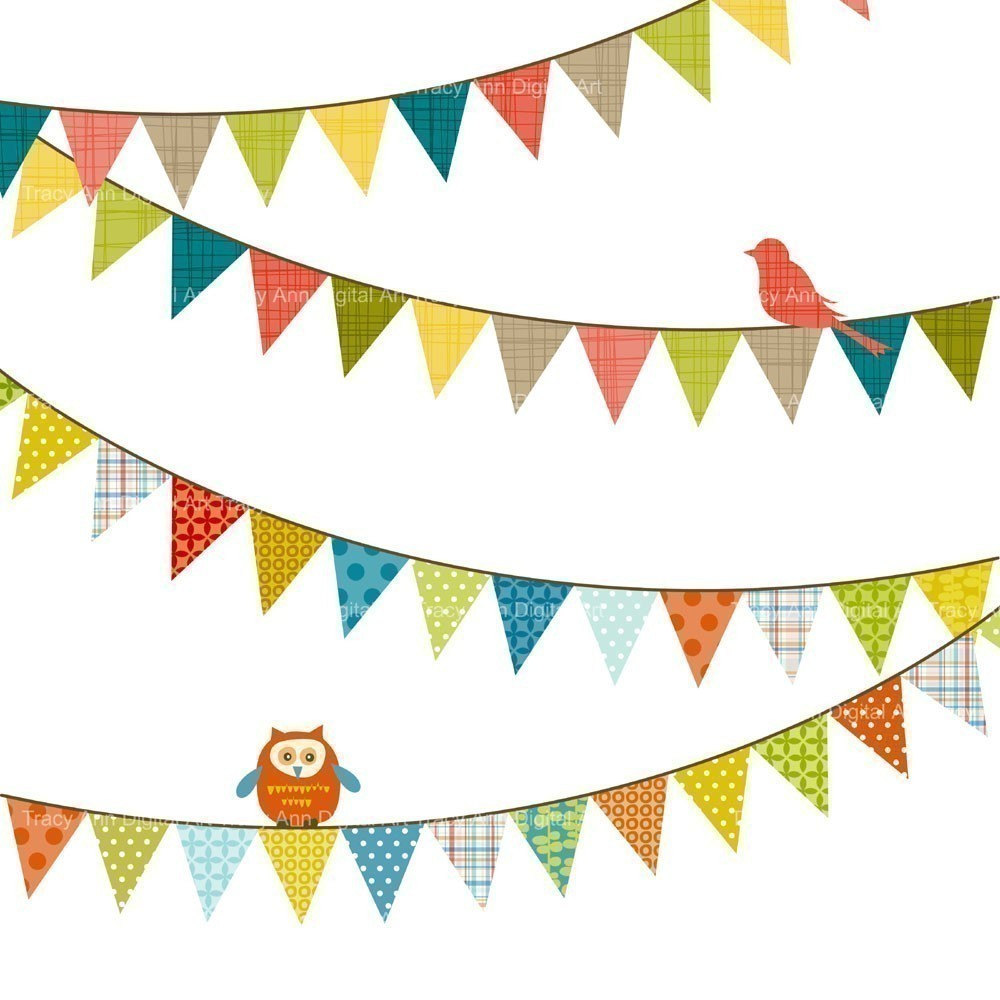 1000x1000 Pennant Banner Clipart
