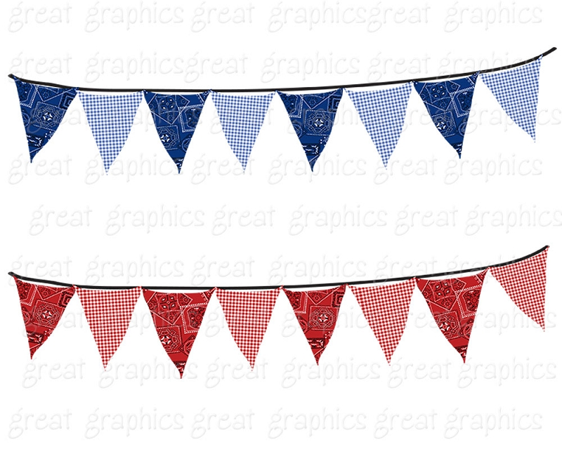 800x640 Bunting Banner Clip Art