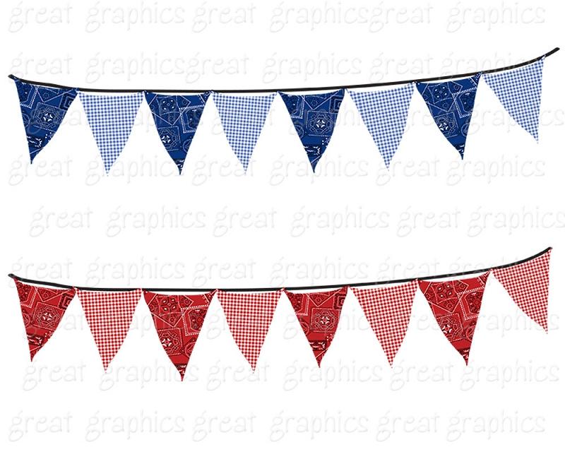 800x640 Bunting Banner Clip Art