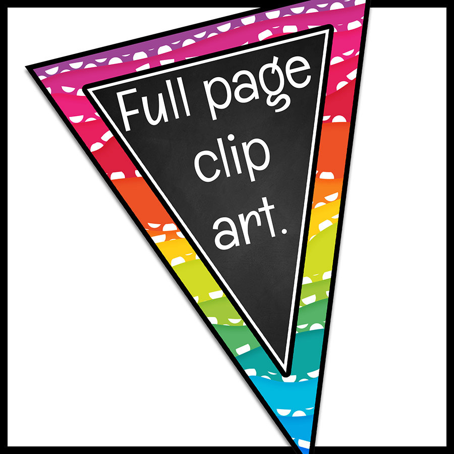 900x900 Bunting Clip Art Single Point Pennants, Classroom Bunting