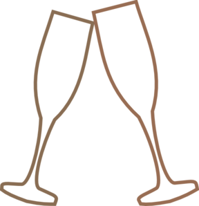 288x298 Champagne Glass Brown Clip Art