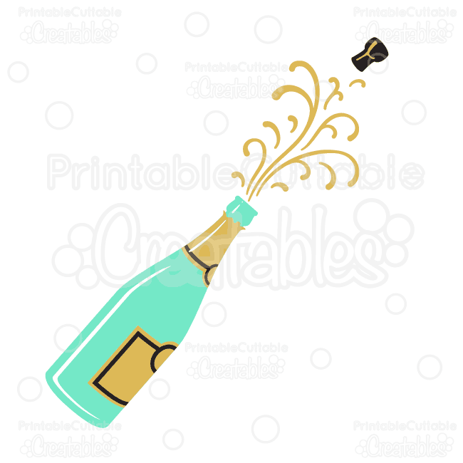650x650 Champagne Popping Svg Cutting File Amp Clipart