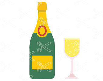 340x270 Champagne Clip Art Etsy