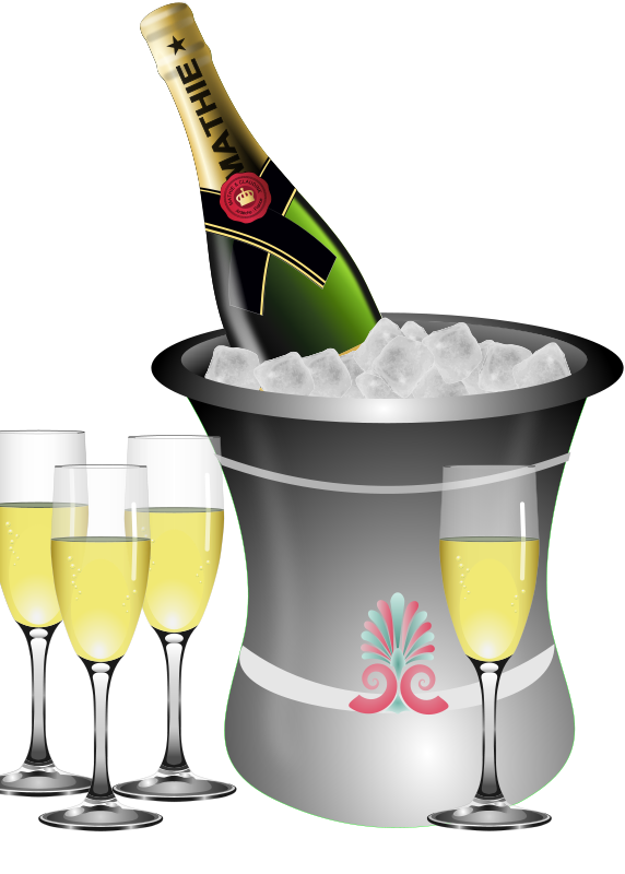 572x800 Bottle Clipart Champagne Glass