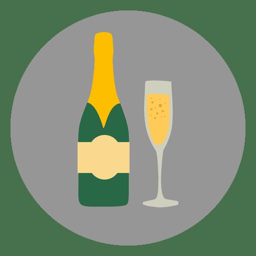512x512 Champagne Glass Circle Icon