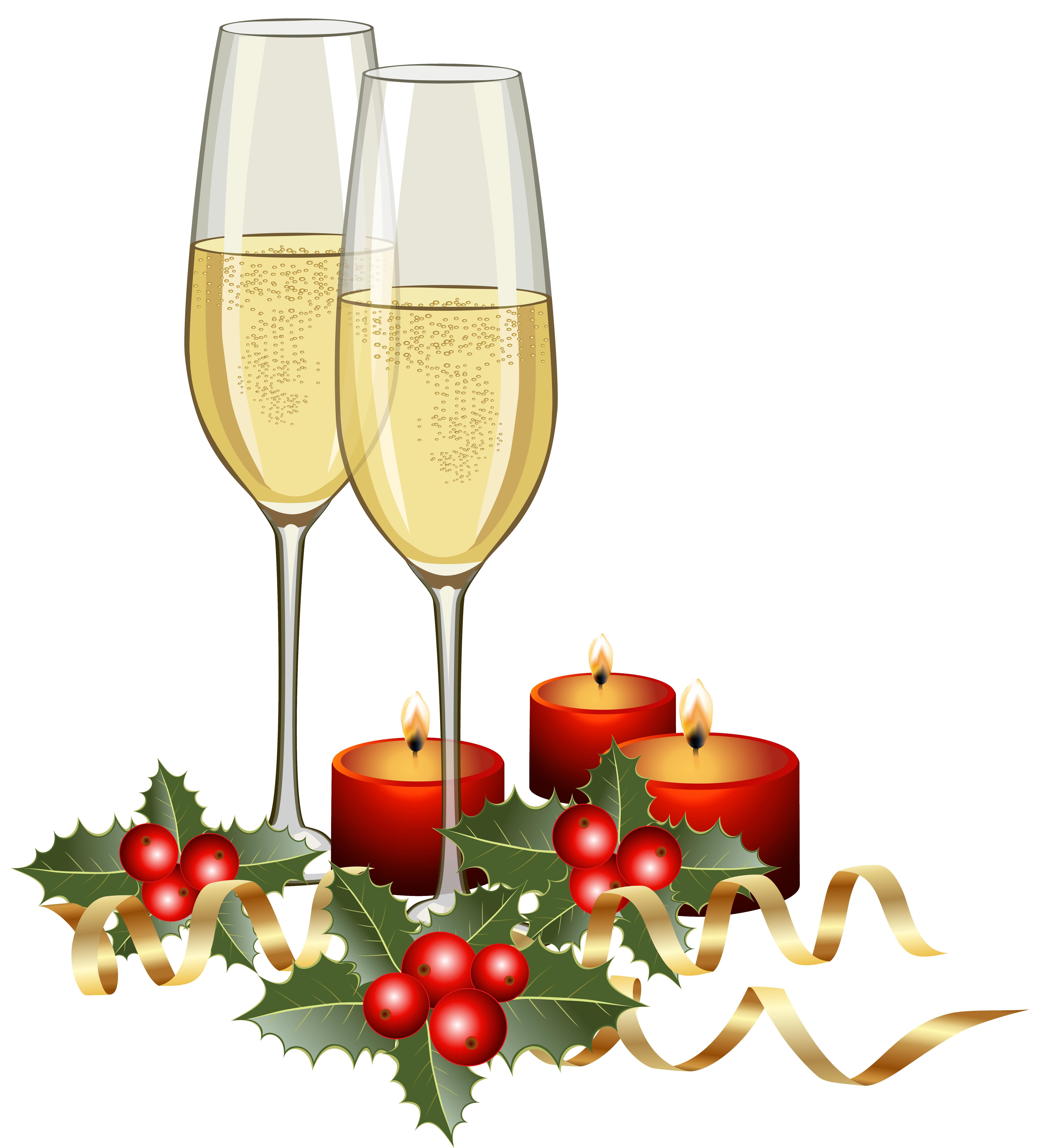 5603x6181 Christmas Champagne And Candles Png Clipart Imageu200b Gallery