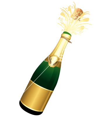 380x400 Free Clipart Champagne Bottle