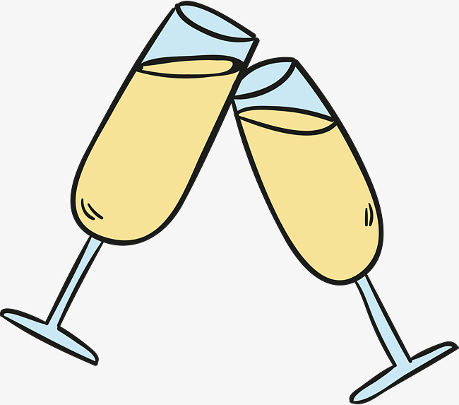 650x573 Cartoon Champagne Glass, Celebrate, A Toast, Cheers! Png