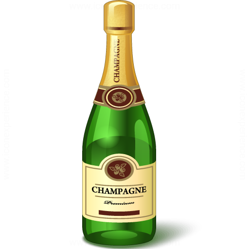 512x512 Iconexperience V Collection Champagne Bottle Icon